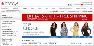 Macy's: Kostenfreier Versand - nur innerhalb der USA