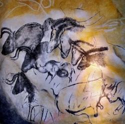 Höhlenmalereien in der Grotte Chauvet