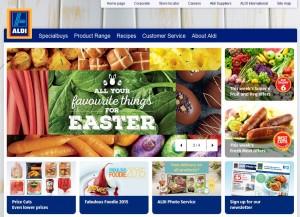 Der britische Aldi - bald auch mit Warenkorb-Button? | Screenshot: aldi.co.uk