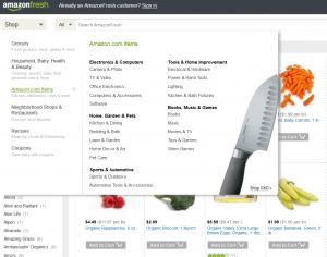 amazon fresh verkauft nicht nur Lebensmittel...