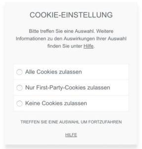 Die Qual der Wahl: Cookie-Banner von Borlabs Cookie