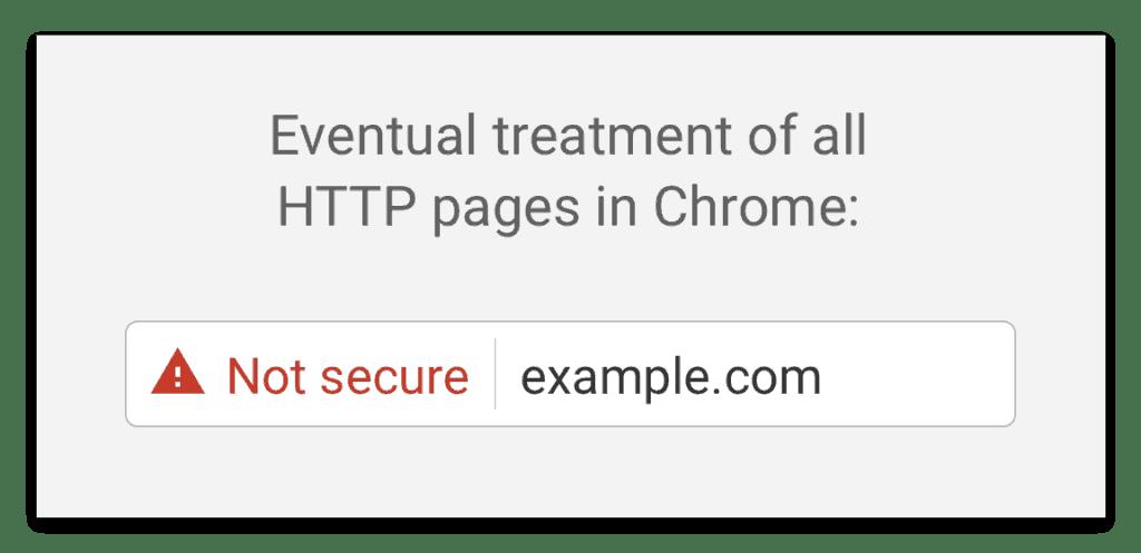 """Unverschlüsselte Seiten markiert Google ab Juli 2018 als """"Not secure"""""""