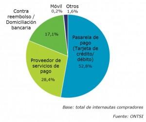 Beliebteste Zahlungsweisen in Spanien 2013 | Quelle: ONTSI