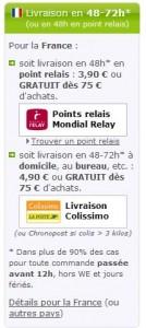 newpharma.be: Versandinformationen Frankreich
