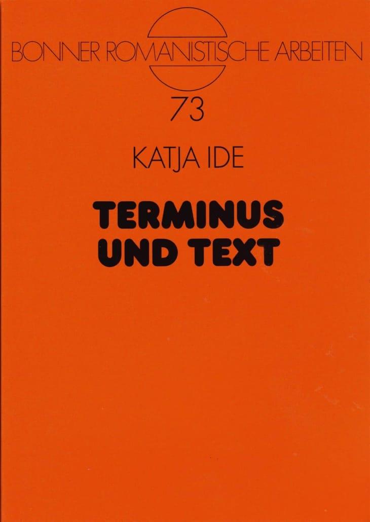 terminus und text • Wissenschaftliche Publikationen