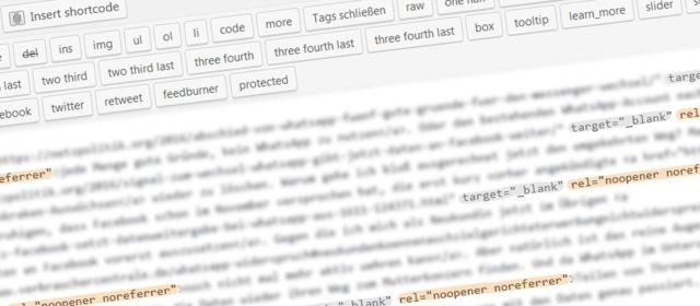Wo kommen die rel-Attribute in euren WordPress-Links her?